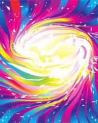 10378333 - abstract colorful rainbow sparkle background vector illustration